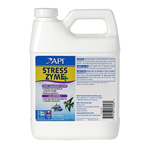 API Stress Zyme Freshwater and Saltwater Aquarium Cleaning Solution 32-Ounce (Freshwater Aquariums Algae Control)