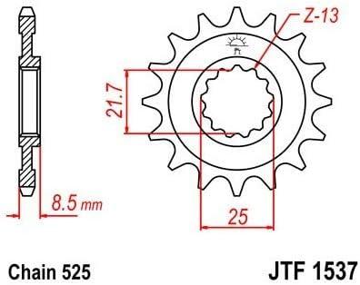 Compatible avec//Remplacement pour ZX10R ZX9R Z1000 Z900 PIGNON 17 DENTS JTF1537.17
