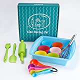 Kyпить SveBake Kids Baking Set 16-Pieces Kitchen Supplies Real Cooking Ultimate Baking Starter Set for Kids Real Gift Set на Amazon.com