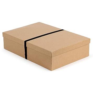 Caja de regalo de cartón kraft para camisas: Amazon.es: Oficina y papelería