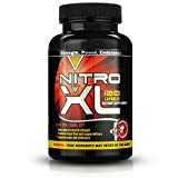 Nitro XL | Nitric Oxide Bodybuilding Supplement – with L-Arginine | Get Ripped – Build Muscle Mass – Get Pumped – Boost Performance – Increase Endurance & Stamina – Intensify Your Workout | 120 caps