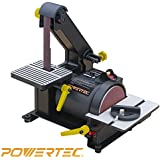"POWERTEC BD1500 Wood Working Belt Disc Sander, 1"" x 5"""
