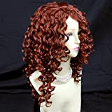 Wiwigs ® Lovely Long Curly Copper Red skin top Wigs Versatile Hair Ladies Wig