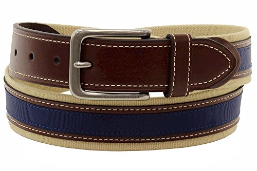 Tommy Hilfiger Men's 1 3/8 in. Canvas and Ribbon Belt