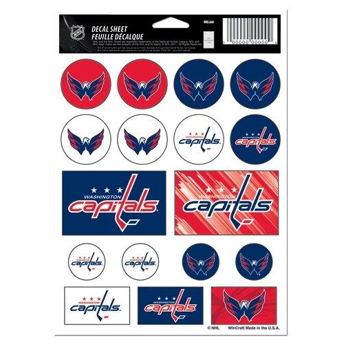 Nhl Sticker (NHL Washington Capitals Vinyl Sticker Sheet, 5