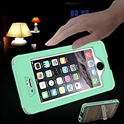 ABC® IP68 Waterproof Shockproof Dirt Proof Cover Holder for iPhone 6S 4.7inch (Mint-Green)