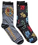 Hyp Harry Potter Hogwarts Men's Crew Socks 2 Pair...