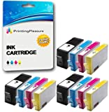 Printing Pleasure 12 (3 SETS) Compatible Printer Ink Cartridges for HP Deskjet 3070A 3520 Officejet 4610 4620 Photosmart 5510 5514 5515 5520 6510 6520 B110a Plus B209a B210a | Replacement for HP 364XL