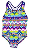 Speedo Big Girls' Solid Infinity Splice One Piece Swimsuit (14, Purple Aztec)