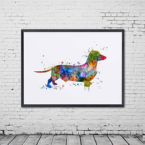 Dachshund Art Print Nursery Watercolor Sausage Dog for sale  Delivered anywhere in USA