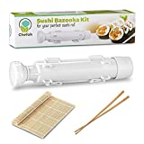 All-In-One Sushi Making Kit | Sushi Bazooka, Sushi Mat & Bamboo Chopsticks Set | DIY Rice Roller Machine | Very Easy To Use | Food Grade Plastic Parts Only | Must-Have Kitchen Appliance