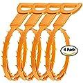 SENHAI Hair Drain Clog Remover, 4 Pack Drain Snake Equipment/Auger type Cleaning Tool