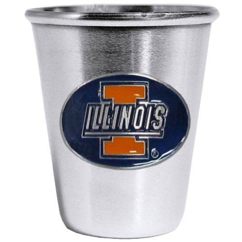 Siskiyou NCAA Illinois Illini Steel Shot Glass