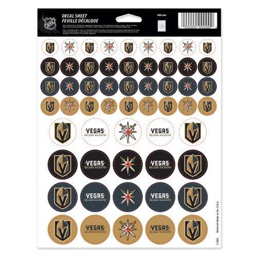 NHL Vegas Golden Knights Vinyl Sticker Sheet 8.5