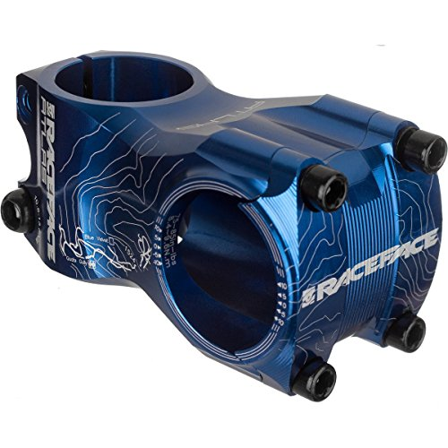 Race Face Atlas Mountain Bike Stem with 50x31.8mm Clamp, Blue, 1 1/8-Inch
