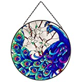 Madison Collection Springtimes Peacock Stained Glass Window