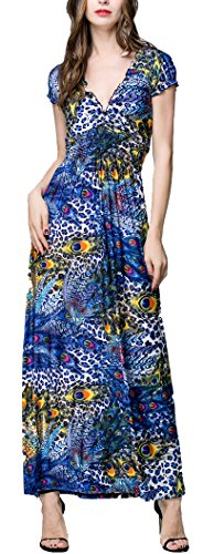Buy belted feather print dress - 5