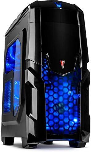 Inter-Tech Q2 Illuminator Midi-Tower Negro Carcasa de Ordenador - Caja de Ordenador (Midi-Tower, PC, De plástico, Acero, ATX,uATX, Negro, Juego): Amazon.es: Informática