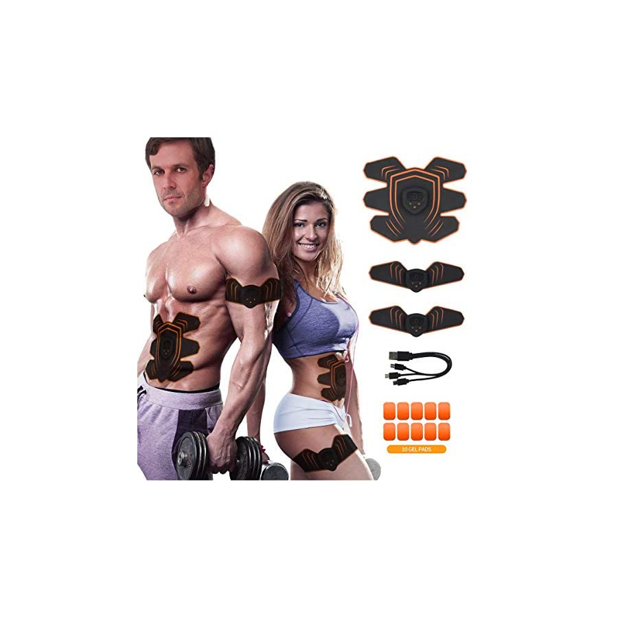 MOORAY SPORT Abs Stimulator Trainer Ultimate Abs Stimulator Ab Stimulator for Men Women Abdominal Work Out Ads Power Abs Training Gear Workout Equipment Portable Stimulator Abs Belt