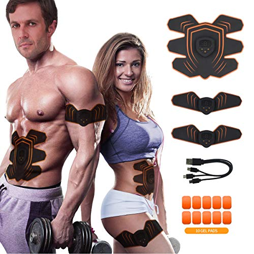 Abs Stimulator Abdominal Trainer Ultimate Abs Stimulator Ab Stimulator Men Women Work Out Ads Power Abs Training Gear Workout Equipment Portable Stimulator Abs Belt