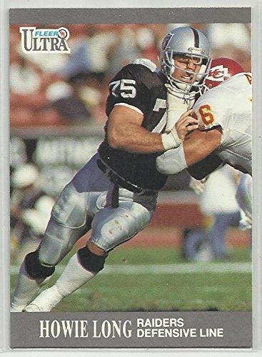 Howie Long 1991 Fleer Ultra NFL Football Card # 81Oakland Raiders