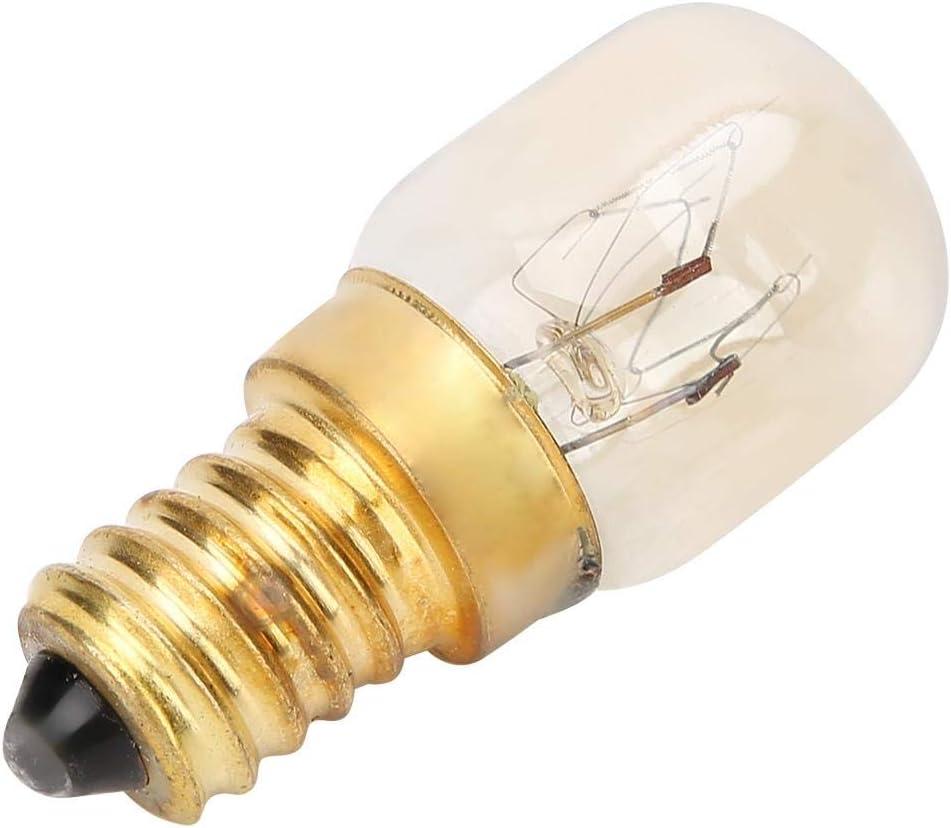 15w 10Pcs 15W o 25W 300 Res Resistencia a altas temperaturas E14 Accesorios de piezas de bombilla de horno de microondas de lat/ón