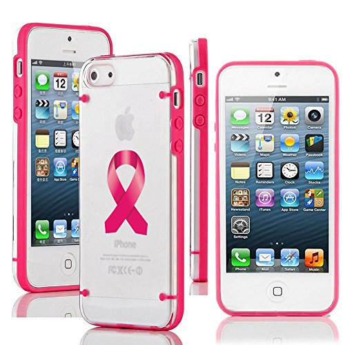 - For Apple iPhone 6 6s Transparent Clear Hard TPU Case Cover Breast Cancer Color Awareness Ribbon (Hot Pink)