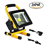 Beshine 20W LED Rechargeable Portable Work Flood Light Emergency Spotlight Daylight White 6000K - 200W EQV