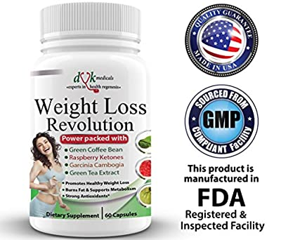 Weight Loss Revolution:Green Coffee Bean ,Raspberry Ketones ,Garcinia Cambogia,Green Tea :Thermogenic Fat Burner :Appetite suppressant :Lose belly fat :Natural Weight Loss Supplement for women men