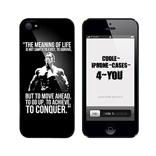 Iphone 5 / 5S Schutzhülle The Meaning of Life - schwarzer Rahmen