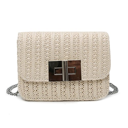 Chain Straw Slung Bag Bag Shoulder Small Fashion beige Square Bag TYJH Simple Single Summer H6qwwT