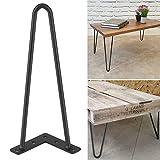 Greensen Hairpin Table Legs (Set of 4), Heavy Duty Black Iron Steel Modern Desk Legs Home Accessories for DIY Hand Crafts Furniture(12 inch)