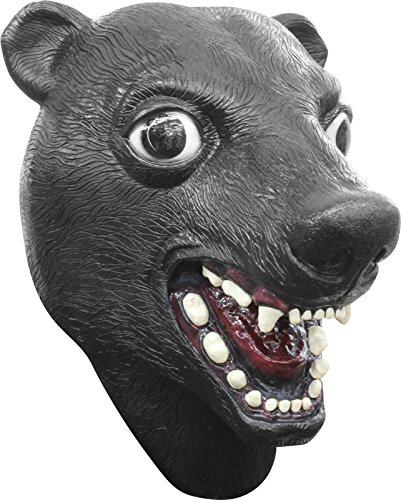Deluxe Black Bear Mask Full Over the Head Latex Mask Adult Size