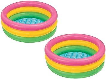 Intex - Piscina hinchable de colores para bebés (25 x 85 cm, 2 ...