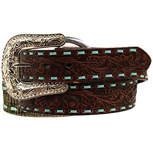 Nocona Women's Jeweled Cross Conchos Belt, Brown, M