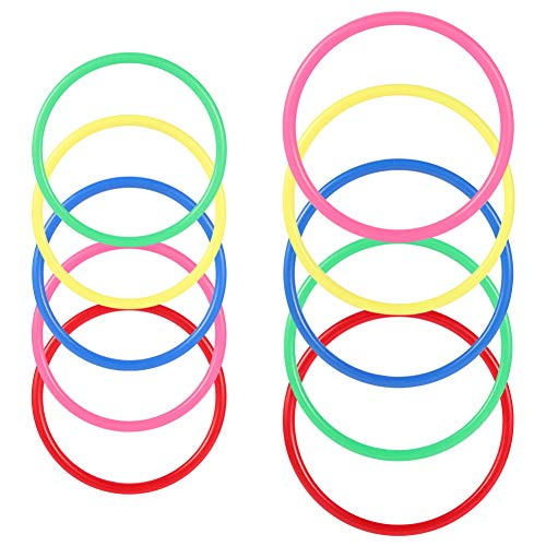 C-pop Rings for Ring toss,16Pcs Multicolor Plastic Toss Rings for Speed and Agility Practice Games,Carnival Garden Backyard Outdoor Games,Toss Ring Game