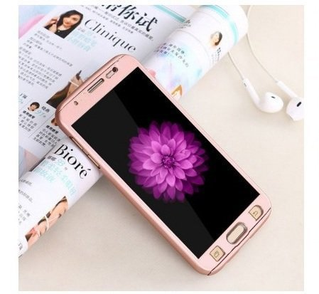 Finaux 360 Degree iPAKY Style Front Back Cover Case for Samsung Galaxy J5 2016 Gold
