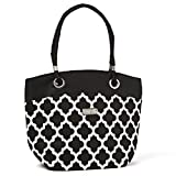 Fit & Fresh Signature Collection Ladies' Brisbane Insulated Tote - Black & White Ikat