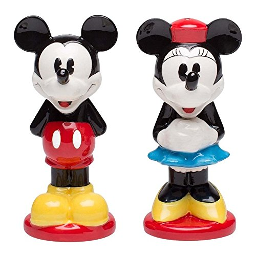 Zak Designs Mickey And Minnie Ceramic Salt & Pepper Shakers, Mickey and Minnie by Zak Designs