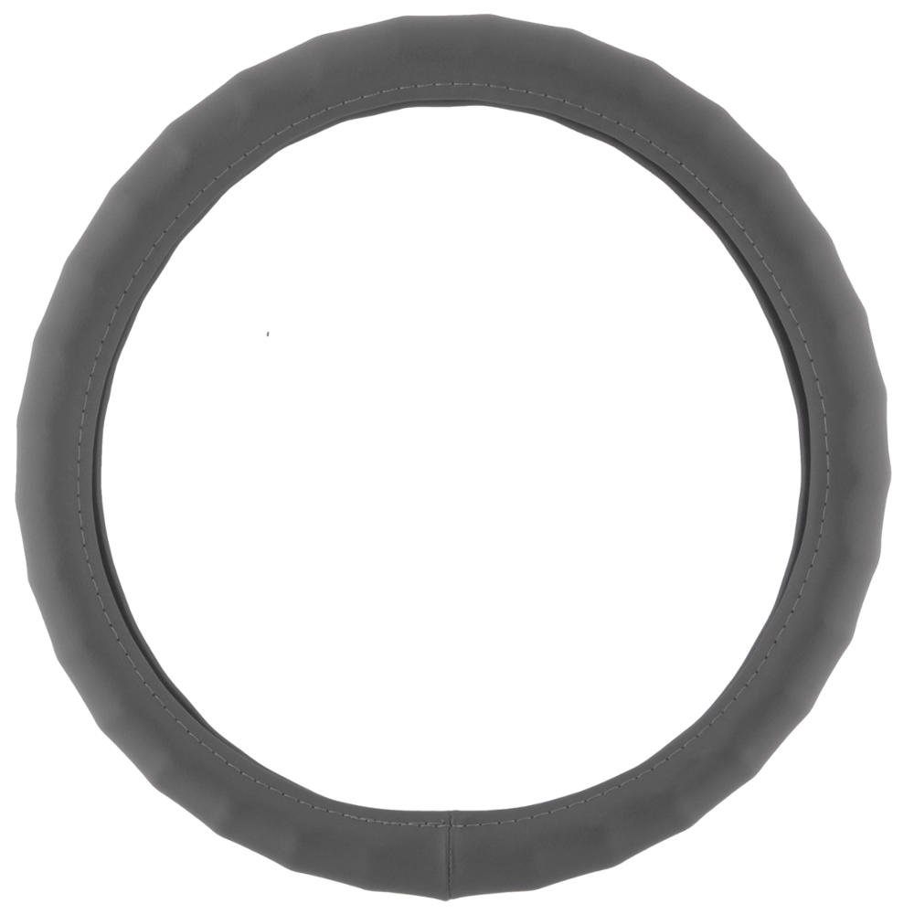 BDK SW-899-SK 13.5-14.5 Leather Car Steering Wheel Cover 13.5-14.5 Max Protection Small//Black -Universal Fit Easy Installation