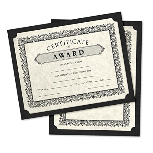 9 1/2 x 12 Single Certificate Holders - Black Linen (100 Qty.) | Perfect for Award Recognition, Certificates, Documents and More! | SCH-BLI-100 by LUXPaper (Image #1)