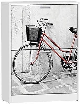 Suarez H329-BCJ - Zapatero con 2 baldas, Madera contrachapada, Blanco, 82 x 60 x 24,2 cm: Amazon.es: Hogar