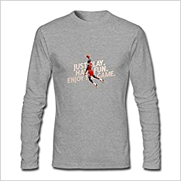 7386303eb6024b Yang Men s Michael Jordan Enjoy The Game Long Sleeve T Shirt XXXL Apparel