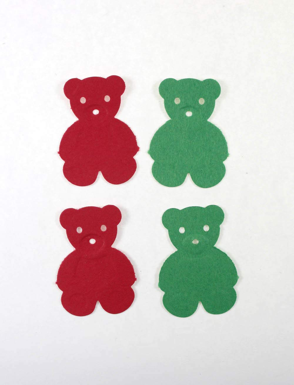 Red and Green Christmas Bear Decorations 50 CT Teddy Bear Confetti