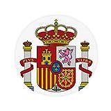 DIYthinker Spain Europe National Emblem Anti-slip Floor Pet Mat Round Bathroom Living Room Kitchen Door 60/50cm Gift