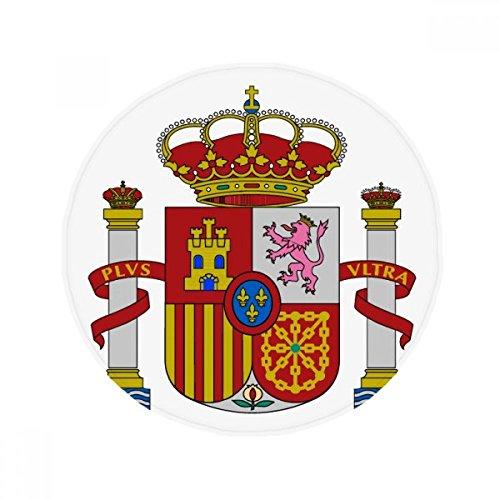 Spain Europe National Emblem Anti-slip Floor Pet Mat Round Bathroom Living Room Kitchen Door 80cm Gift by DIYthinker