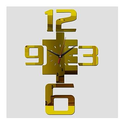 Alrens(TM Acrylic Mirror Wall Clock Large Decorative Clocks Quartz Watches Modern Living Room DIY