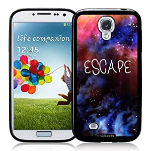 Cool Painting Hipster Quote - Escape Universe Galaxy Space Nebula - Protective Designer BLACK Case - Fits Samsung Galaxy S4 i9500