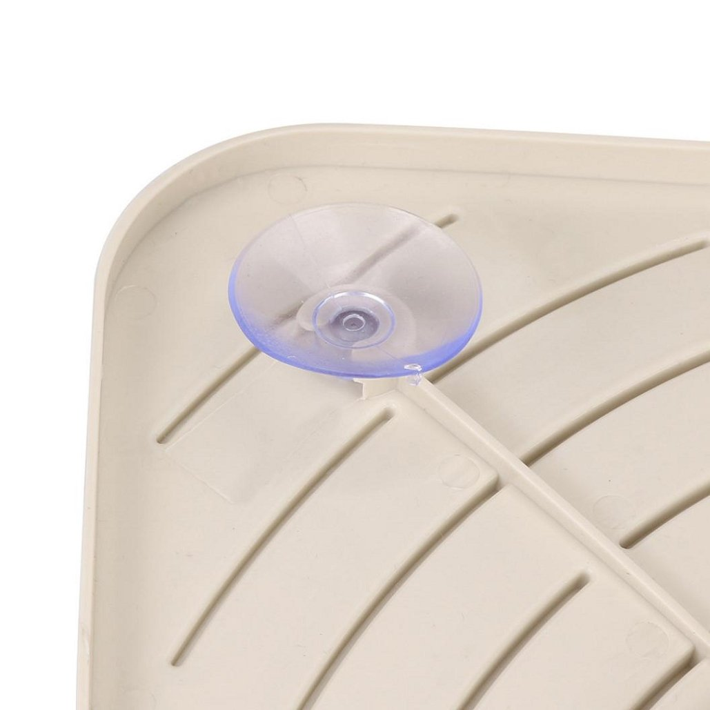 Storage Rack(27×19×5.5CM) ,Tuscom Bathroom Kitchen Sink Corner Storage Soap Tool Rack Sponge Holder Suction Cup (Khaki) by Tuscom (Image #4)