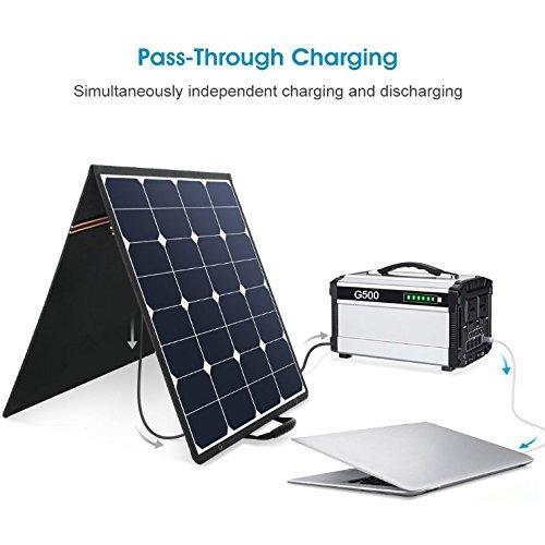500w Portable Power Station Solar Generator Lithium 444wh